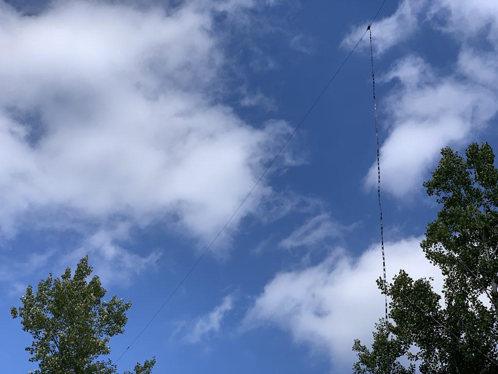G5RV 55' high in the air